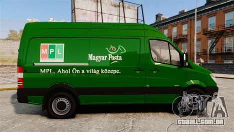 Mercedes-Benz Sprinter 2500 2011 Hungarian Post para GTA 4 esquerda vista