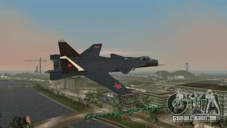 O Su-47 Berkut para GTA Vice City vista traseira esquerda