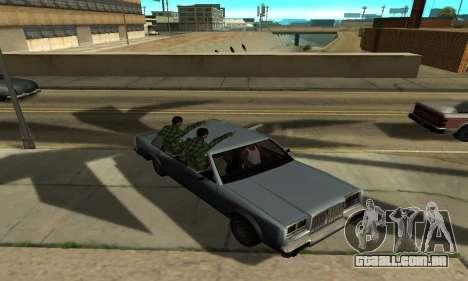 Sombras no estilo de RAIVA para GTA San Andreas oitavo tela
