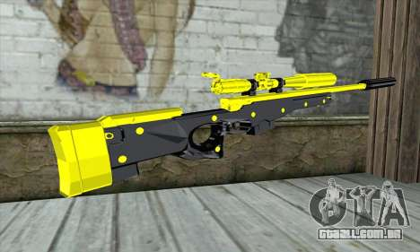 Yellow Sniper Rifle para GTA San Andreas segunda tela