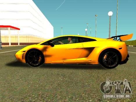 Lamborghini Gallardo Super Trofeo Stradale para GTA San Andreas traseira esquerda vista