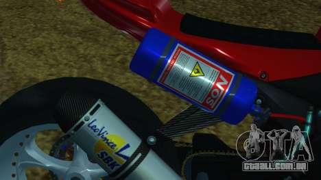 Kawasaki Ninja ZX-6R para GTA San Andreas vista traseira