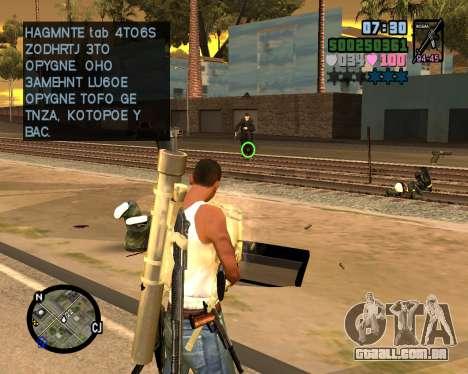 C-HUD Vice Sity para GTA San Andreas terceira tela