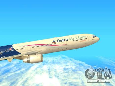 McDonnell Douglas MD-11 Delta Airlines para GTA San Andreas esquerda vista