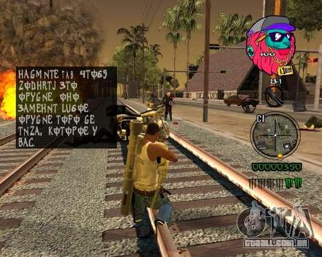 C-HUD Lion para GTA San Andreas por diante tela
