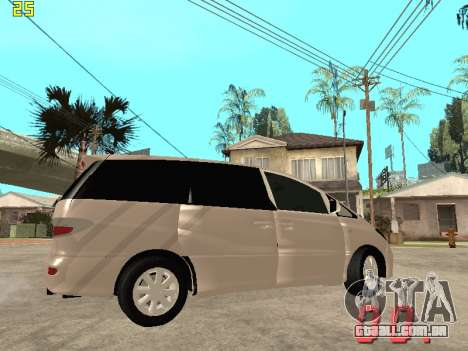 Toyota Estima KZ Edition 4wd para GTA San Andreas vista interior