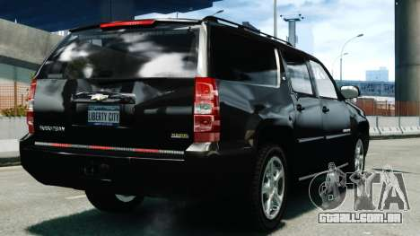 Chevrolet Suburban 2008 FBI [ELS] para GTA 4 traseira esquerda vista
