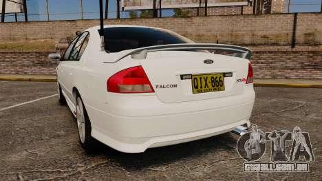 Ford Falcon XR8 Police Unmarked [ELS] para GTA 4 traseira esquerda vista