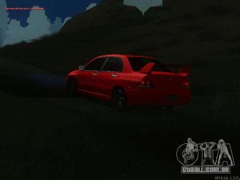 Mitsubishi Lancer Evo VIII para GTA San Andreas vista traseira