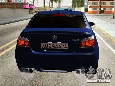 BMW M5 E60 2010 para GTA San Andreas vista interior