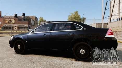 Chevrolet Impala 2010 LS Unmarked K9 Unit [ELS] para GTA 4 esquerda vista