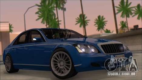 Maybach 57 TT Black Revel para GTA San Andreas