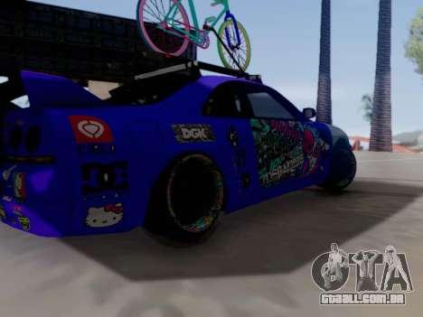 Nissan GT-R R33 HellaFlush V2 para GTA San Andreas vista traseira