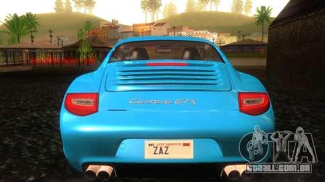 Porsche 911 Carrera GTS 2011 para GTA San Andreas vista inferior