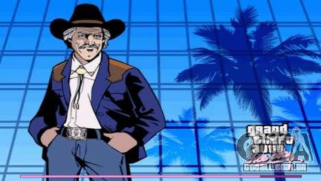 Arranque telas com a versão para PS2 para GTA Vice City segunda tela