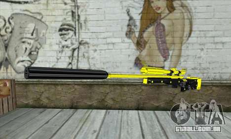 Yellow Sniper Rifle para GTA San Andreas