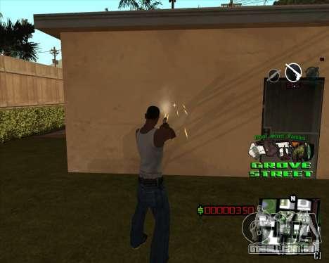 C-HUD West Side Grove Street para GTA San Andreas segunda tela