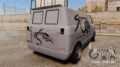Burrito Bodybuilder para GTA 4 traseira esquerda vista