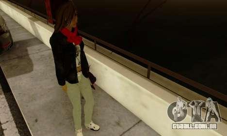 Kim Kameron para GTA San Andreas quinto tela