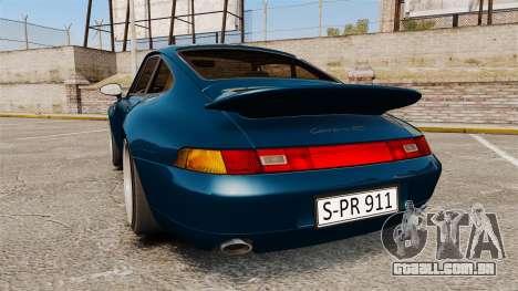 Porsche Carrera RS 1995 para GTA 4 traseira esquerda vista