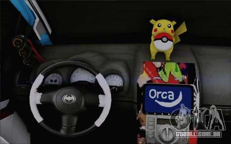 Toyota Yaris Hellaflush Young Child para GTA San Andreas vista superior