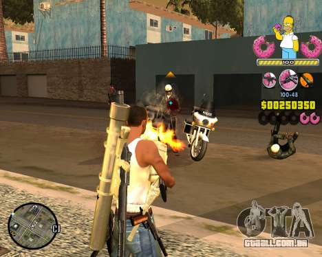 C-HUD Mr. Simpson para GTA San Andreas