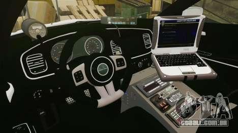 Dodge Charger 2013 Liberty University Police ELS para GTA 4 vista de volta