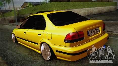 Honda Civic Edit Mehmet ALAN para GTA San Andreas traseira esquerda vista
