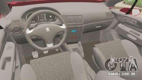 Peugeot 308 CC para GTA 4 vista interior