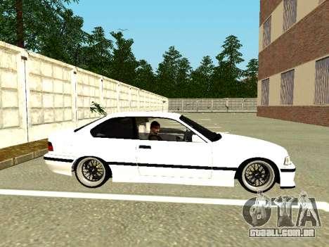 BMW M3 E36 Coupe para GTA San Andreas traseira esquerda vista