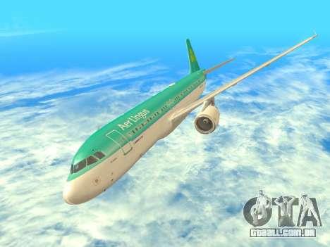 Airbus A320-200 Aer Lingus para GTA San Andreas vista superior