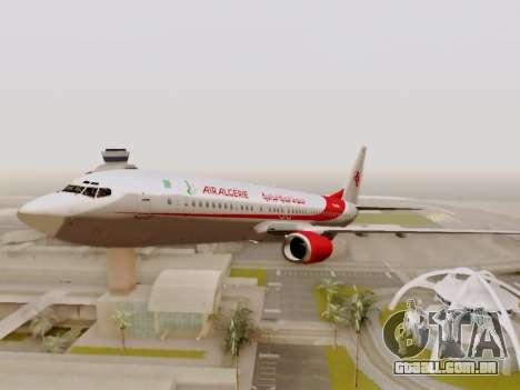 Boeing 737-800 Air Algerie para GTA San Andreas vista superior