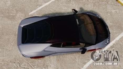 Lamborghini Huracan 2014 para GTA 4 vista direita