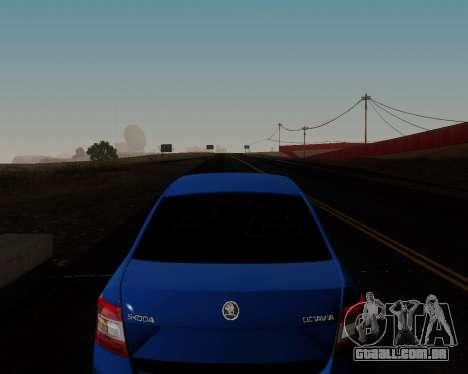 Skoda Octavia A7 para GTA San Andreas vista inferior