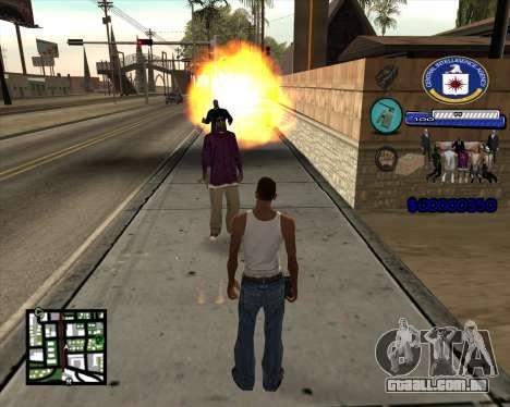 C-HUD C.I.A para GTA San Andreas terceira tela