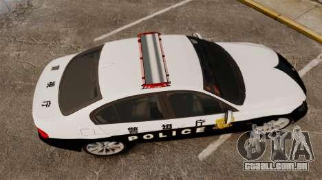 BMW 350i Japanese Police [ELS] para GTA 4 vista direita