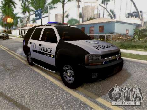 Chevrolet TrailBlazer Police para GTA San Andreas vista inferior