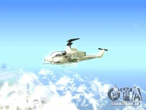 AH-1W Super Cobra para GTA San Andreas traseira esquerda vista