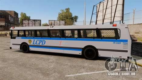 Brute Bus LCPD [ELS] para GTA 4 esquerda vista