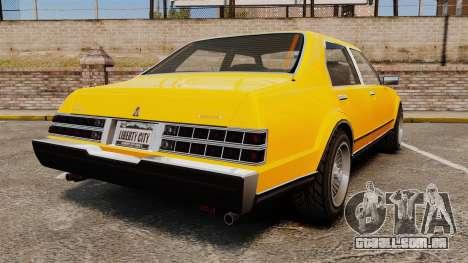 Esperanto New Wheel para GTA 4 traseira esquerda vista