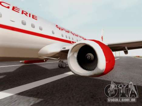 Boeing 737-800 Air Algerie para GTA San Andreas vista traseira