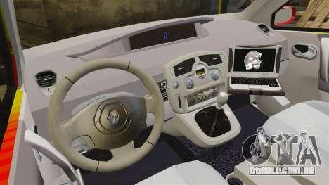 Renault Scenic Medicin v2.0 [ELS] para GTA 4 vista de volta