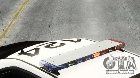 Ford Police Interceptor LCPD 2013 [ELS] para GTA 4 traseira esquerda vista