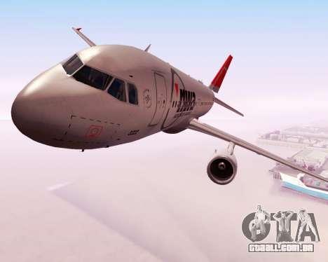 Airbus A320 NWA para GTA San Andreas vista interior