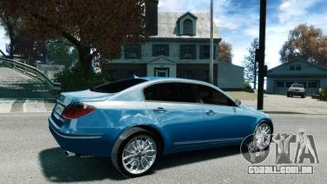 Hyundai Genesis V6 Sedan para GTA 4 esquerda vista