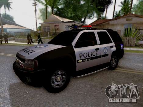 Chevrolet TrailBlazer Police para vista lateral GTA San Andreas