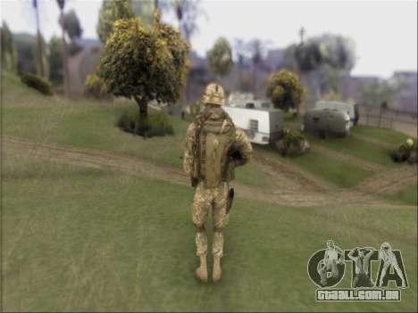 US Army Skin para GTA San Andreas terceira tela