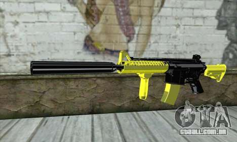 Yellow M4A1 para GTA San Andreas