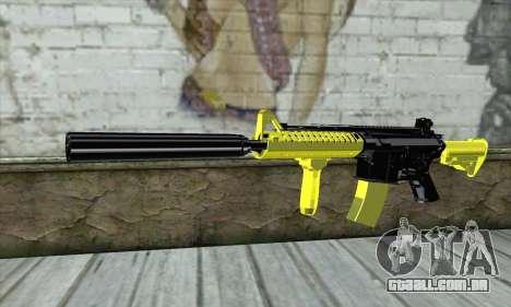 Yellow M4A1 para GTA San Andreas