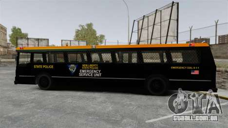 Brute Bus ESU [ELS] para GTA 4 esquerda vista
